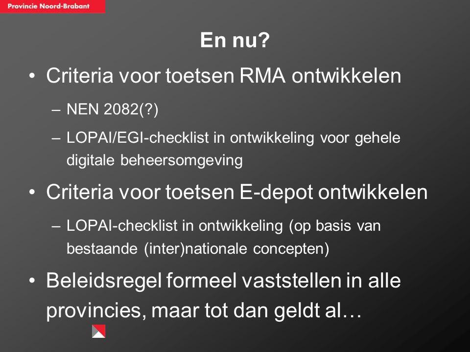 Criteria voor toetsen RMA ontwikkelen