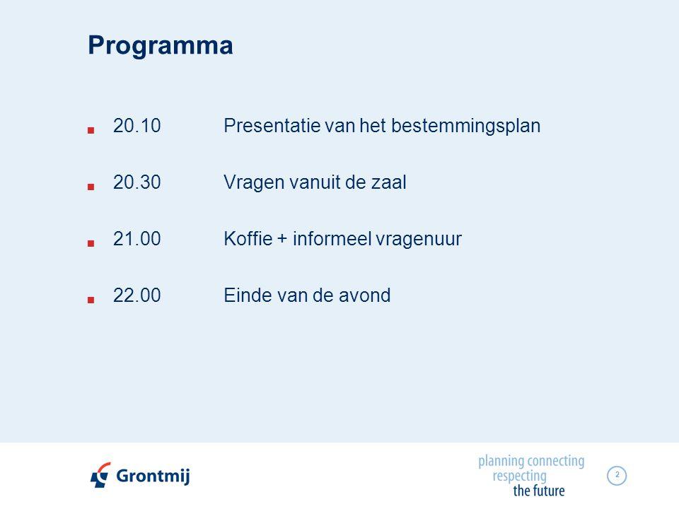 Programma 20.10 Presentatie van het bestemmingsplan