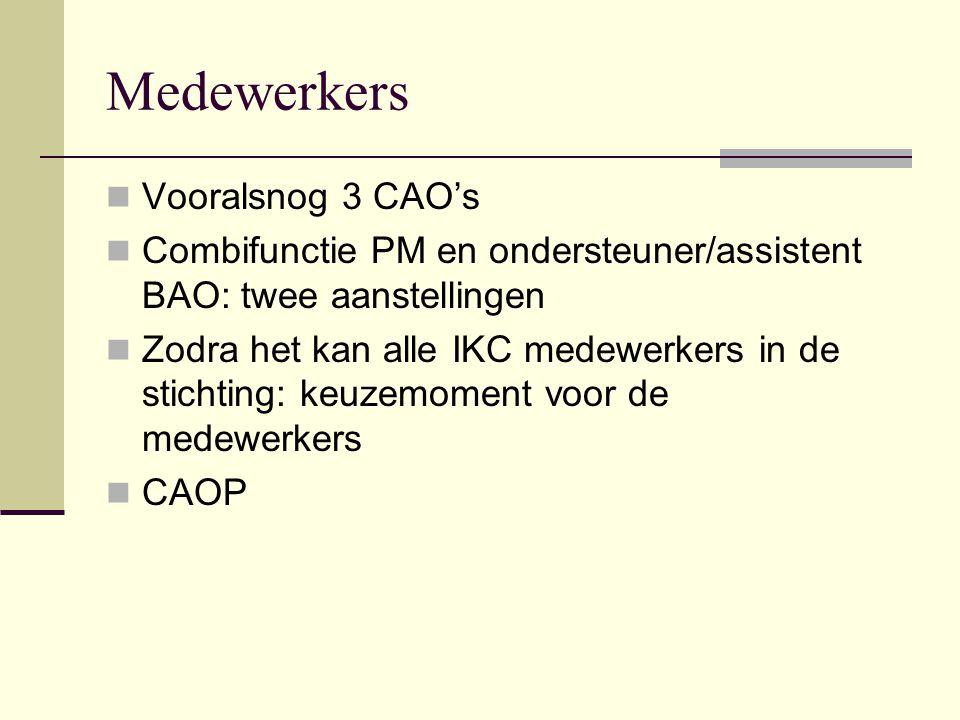 Medewerkers Vooralsnog 3 CAO's
