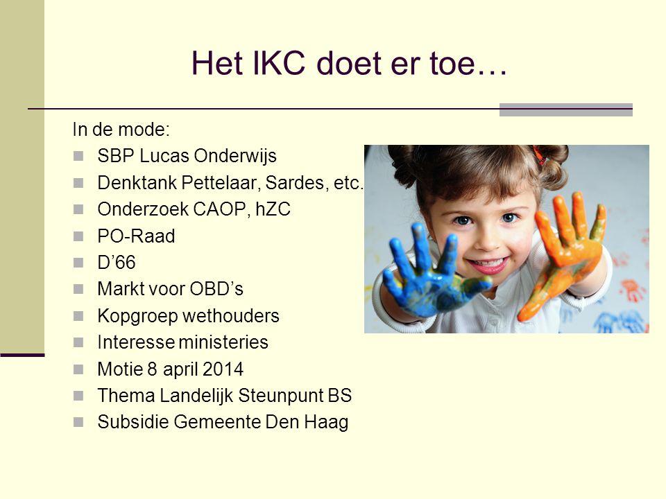 Het IKC doet er toe… In de mode: SBP Lucas Onderwijs