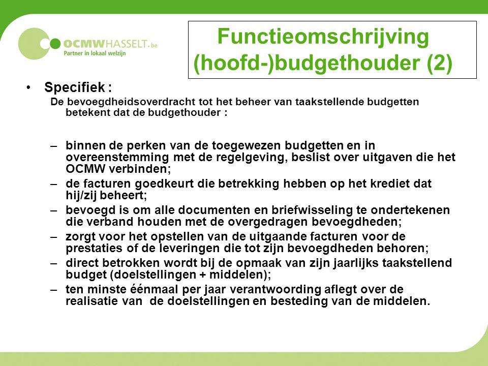 Functieomschrijving (hoofd-)budgethouder (2)
