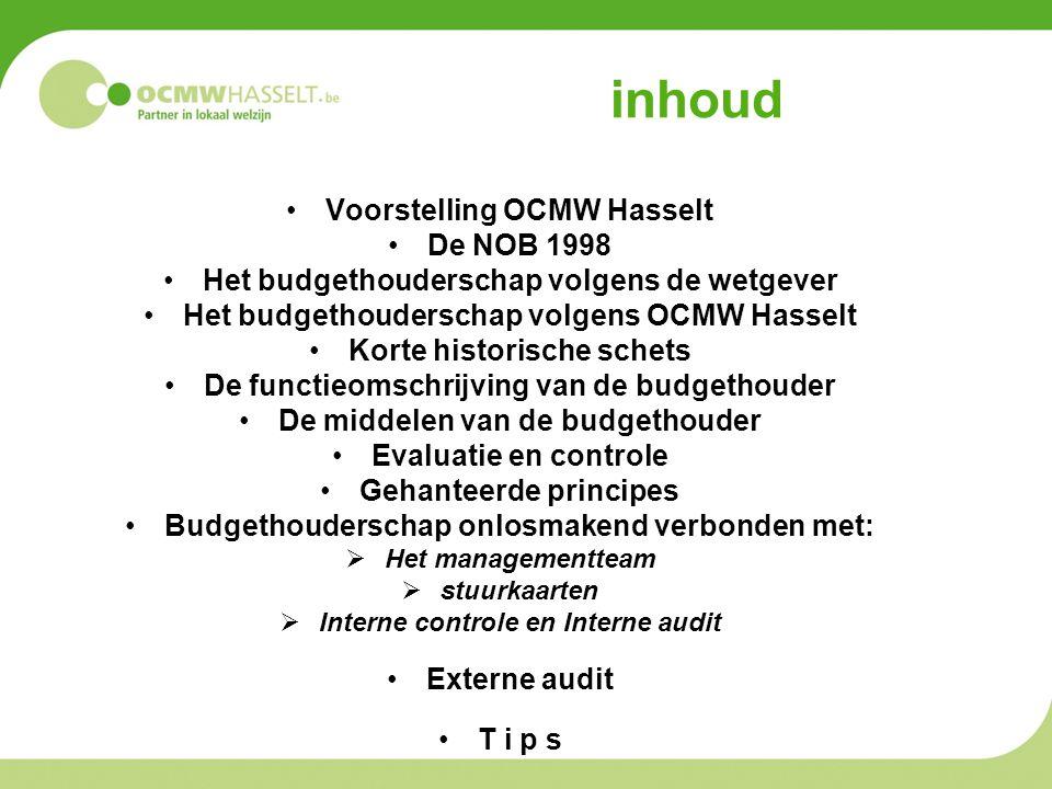 inhoud Voorstelling OCMW Hasselt De NOB 1998