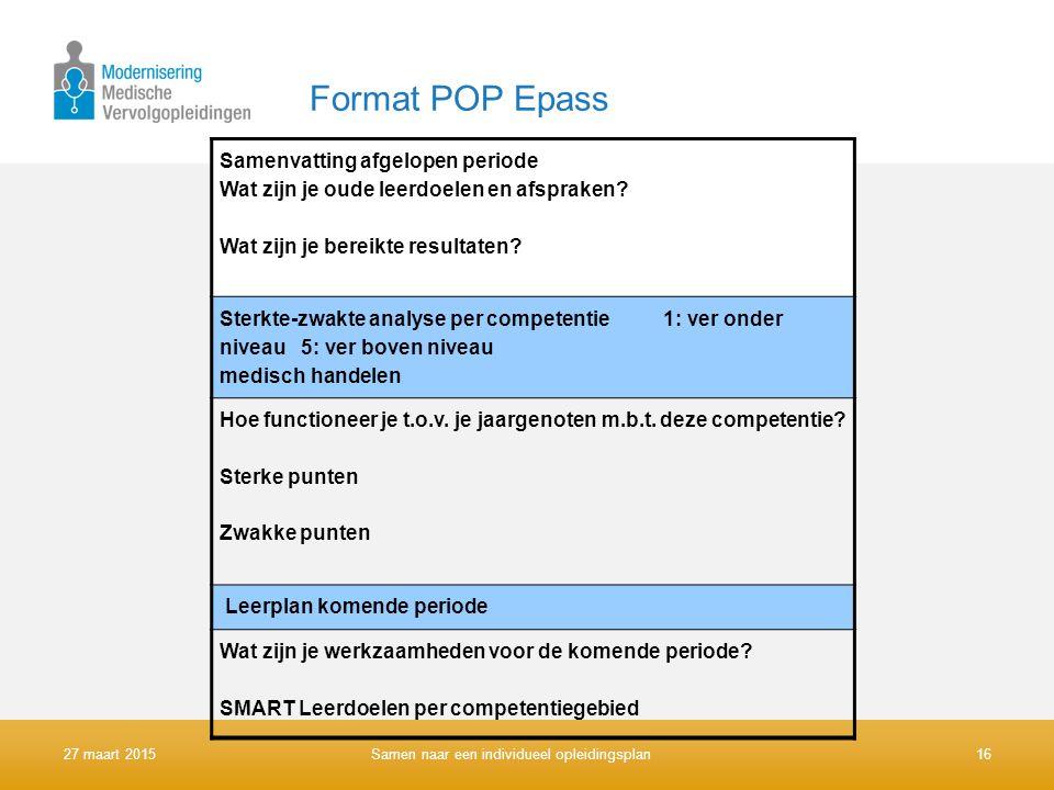 Format POP Epass Samenvatting afgelopen periode