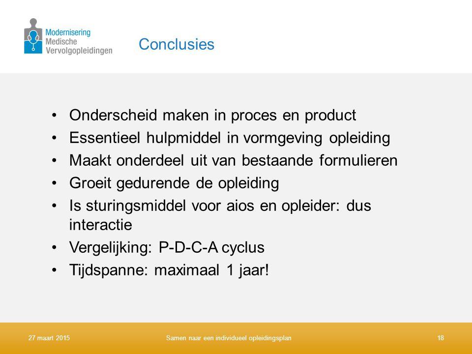 Onderscheid maken in proces en product