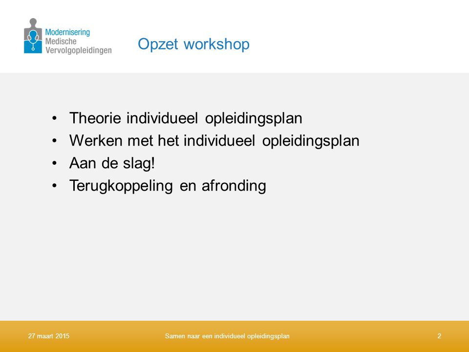 Theorie individueel opleidingsplan