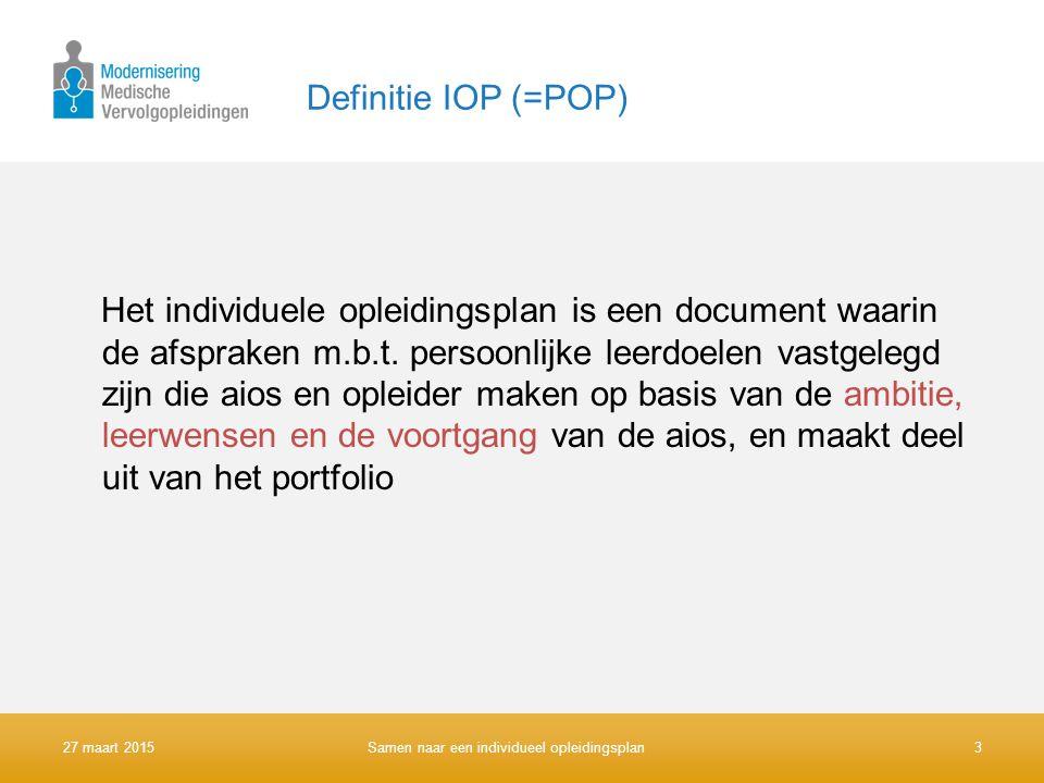 Definitie IOP (=POP)