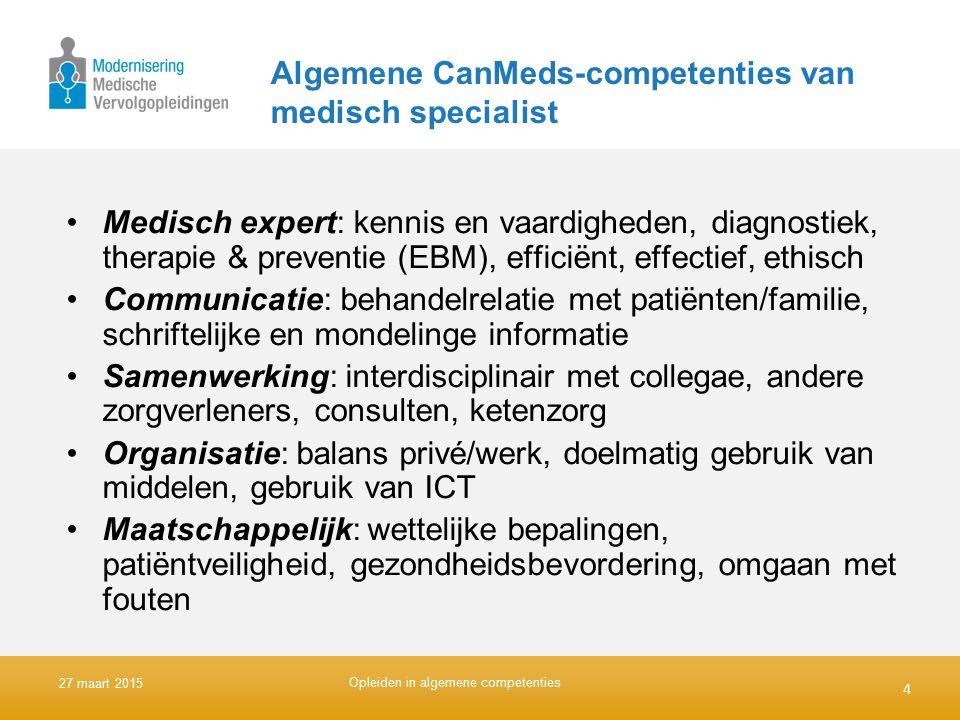Algemene CanMeds-competenties van medisch specialist