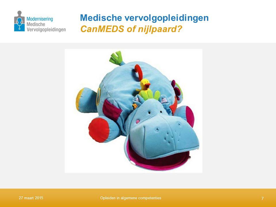 Medische vervolgopleidingen CanMEDS of nijlpaard