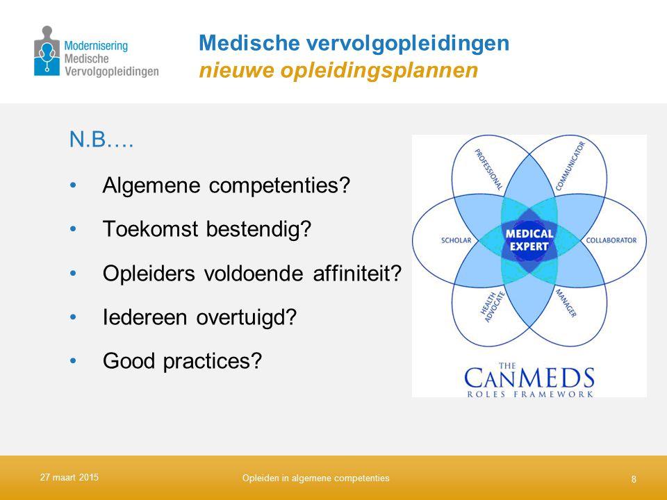 Medische vervolgopleidingen nieuwe opleidingsplannen