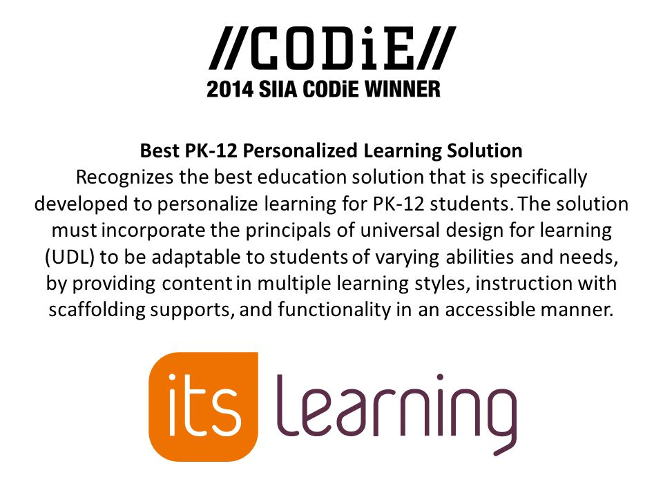 Best PK-12 Personalized Learning Solution