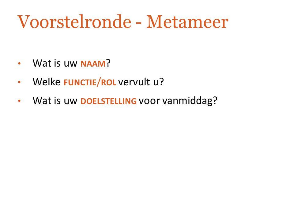 Voorstelronde - Metameer