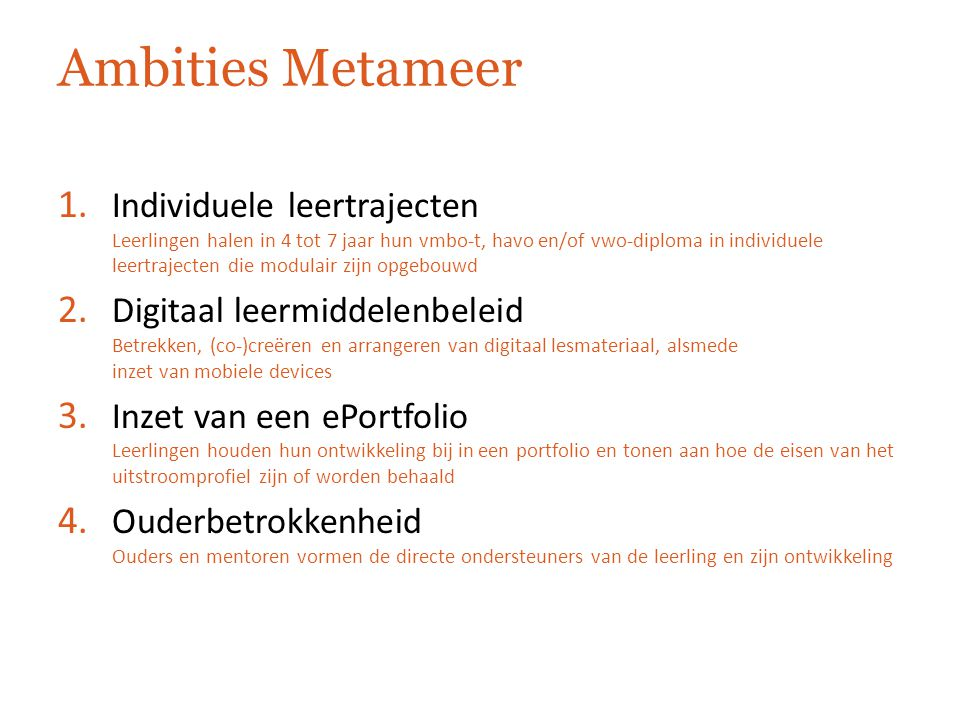 Ambities Metameer