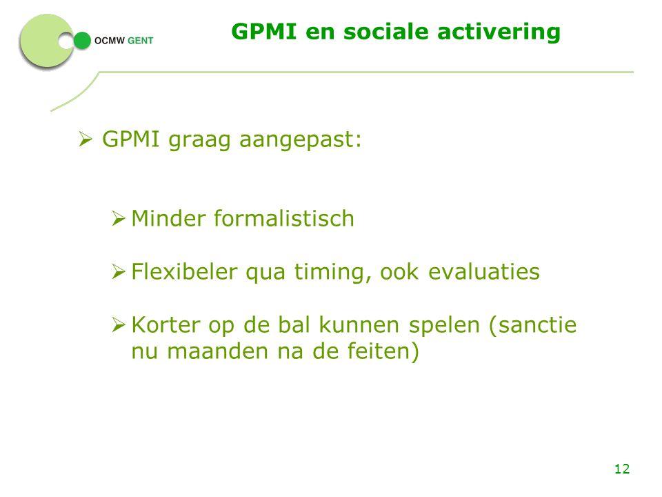 GPMI en sociale activering