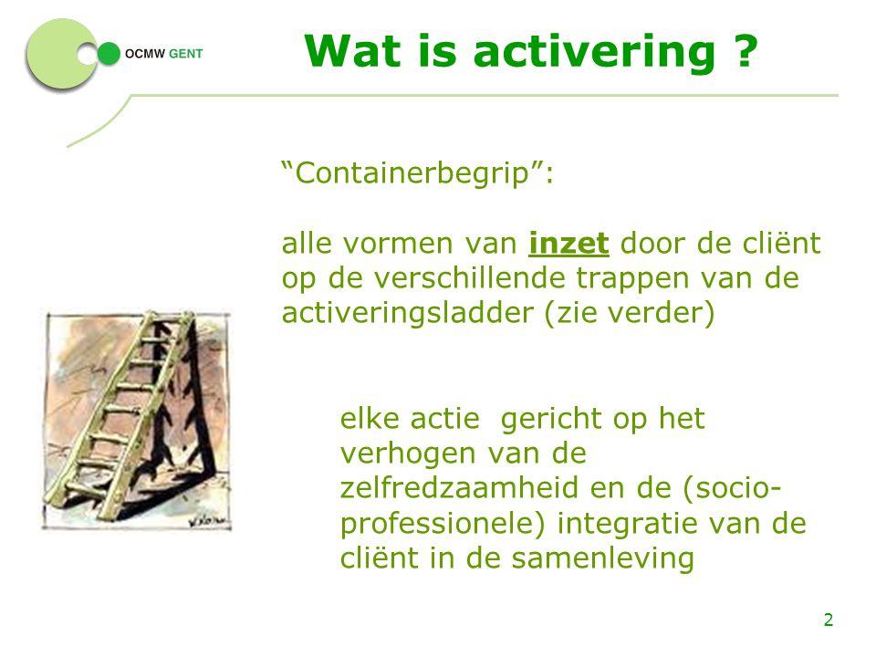 Wat is activering Containerbegrip :