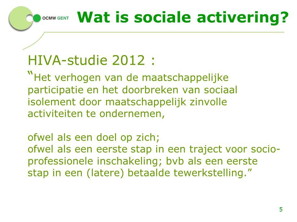 Wat is sociale activering