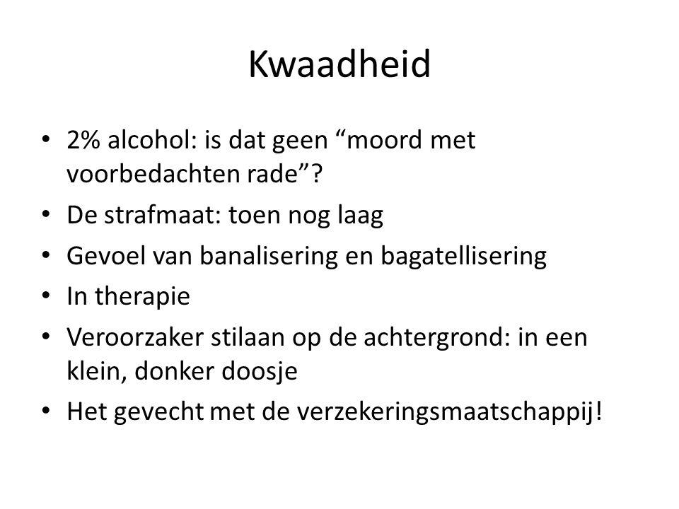 Kwaadheid 2% alcohol: is dat geen moord met voorbedachten rade