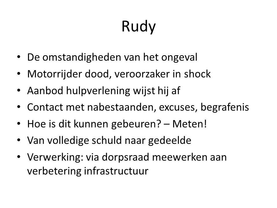 Rudy De omstandigheden van het ongeval