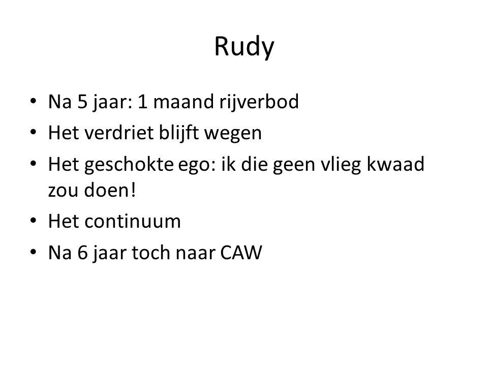 Rudy Na 5 jaar: 1 maand rijverbod Het verdriet blijft wegen
