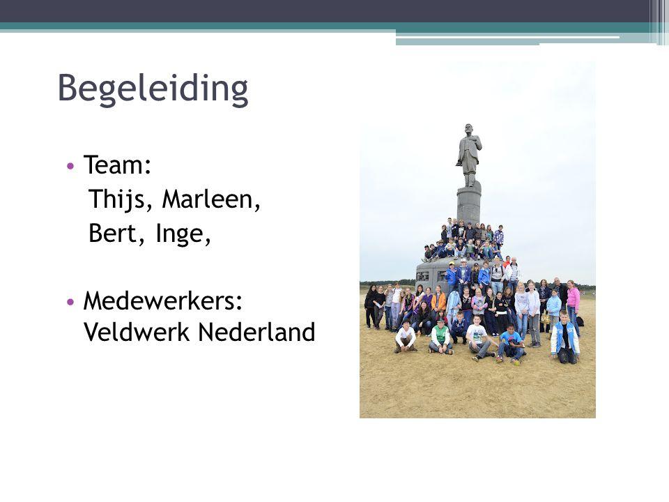 Begeleiding Team: Thijs, Marleen, Bert, Inge,