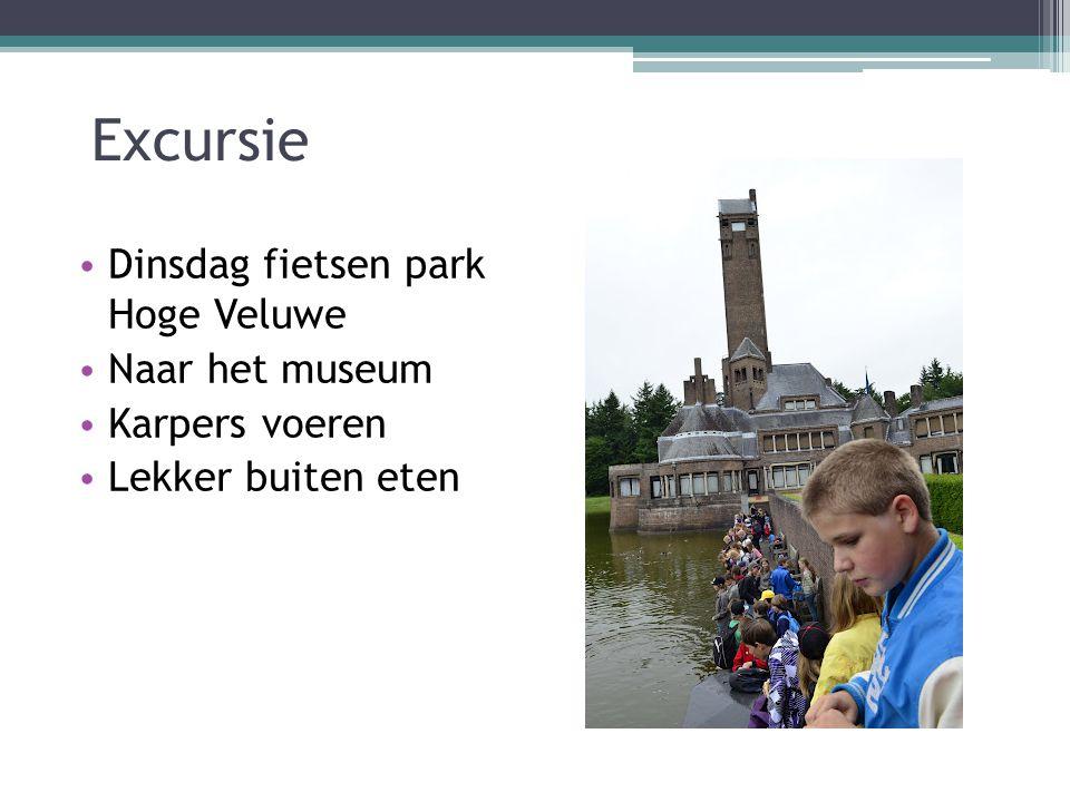 Excursie Dinsdag fietsen park Hoge Veluwe Naar het museum