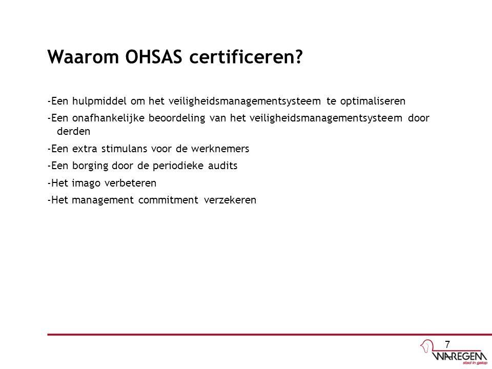 Waarom OHSAS certificeren