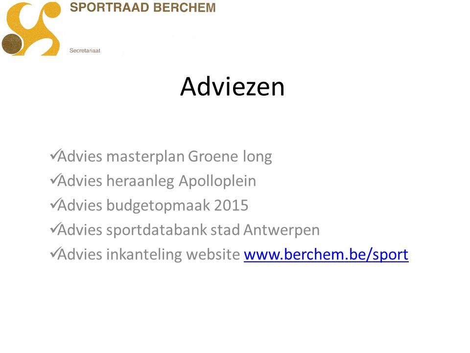 Adviezen Advies masterplan Groene long Advies heraanleg Apolloplein