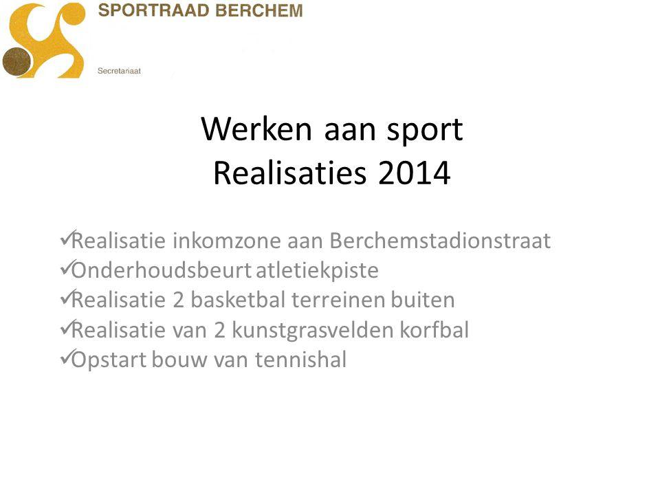 Werken aan sport Realisaties 2014