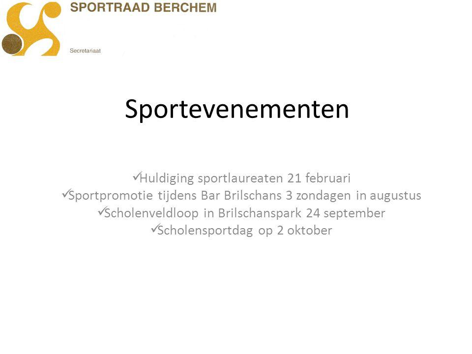Sportevenementen Huldiging sportlaureaten 21 februari