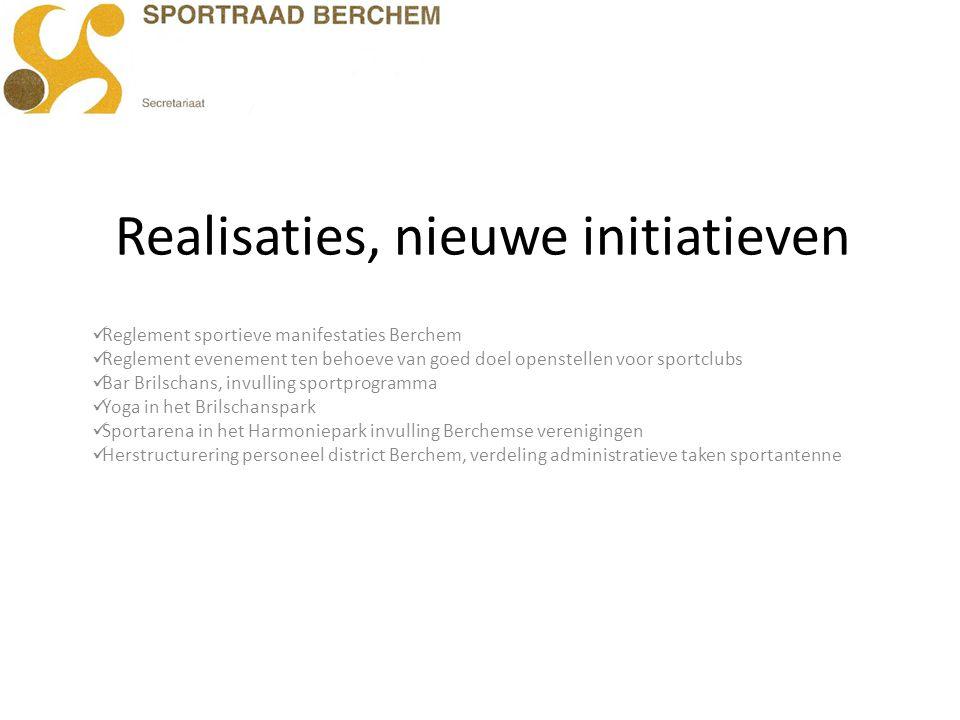 Realisaties, nieuwe initiatieven