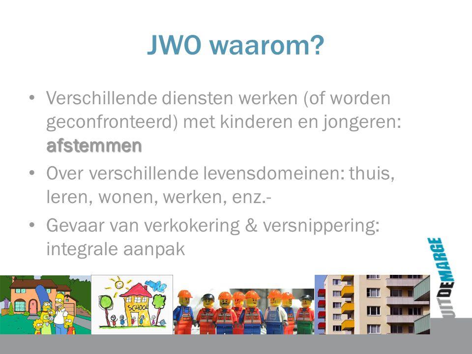 JWO waarom Verschillende diensten werken (of worden geconfronteerd) met kinderen en jongeren: afstemmen.