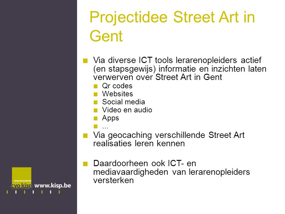 Projectidee Street Art in Gent