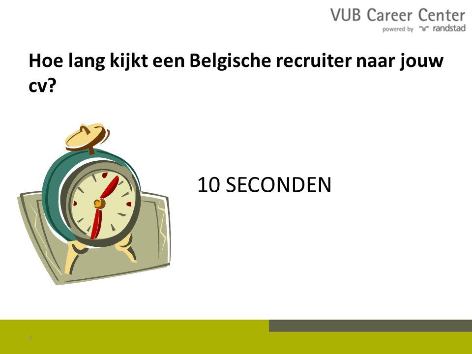 Hoe lang kijkt een Belgische recruiter naar jouw cv