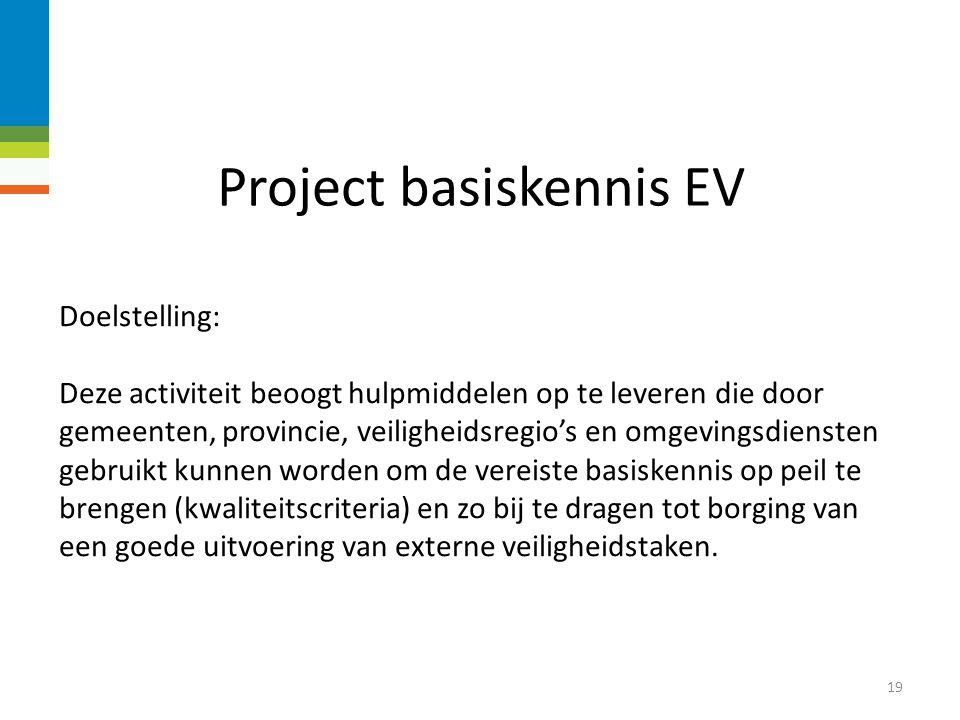 Project basiskennis EV