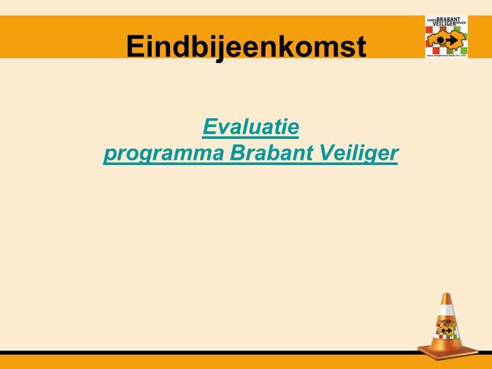 Evaluatie programma Brabant Veiliger