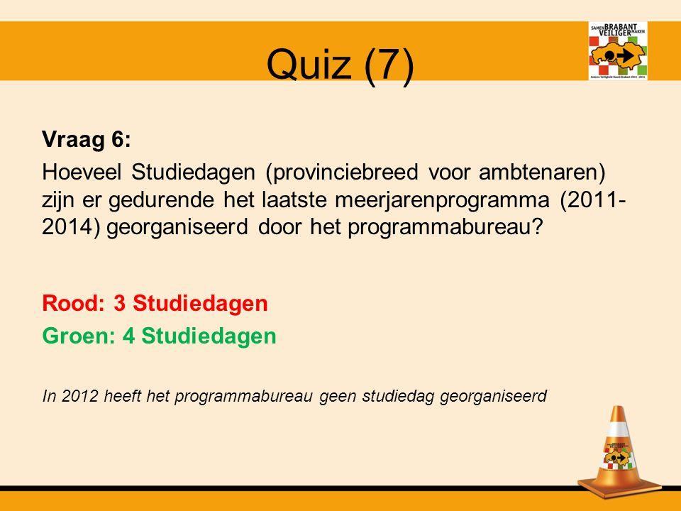 Quiz (7) Vraag 6: