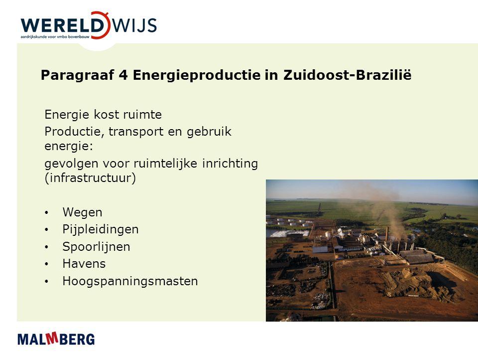 Paragraaf 4 Energieproductie in Zuidoost-Brazilië