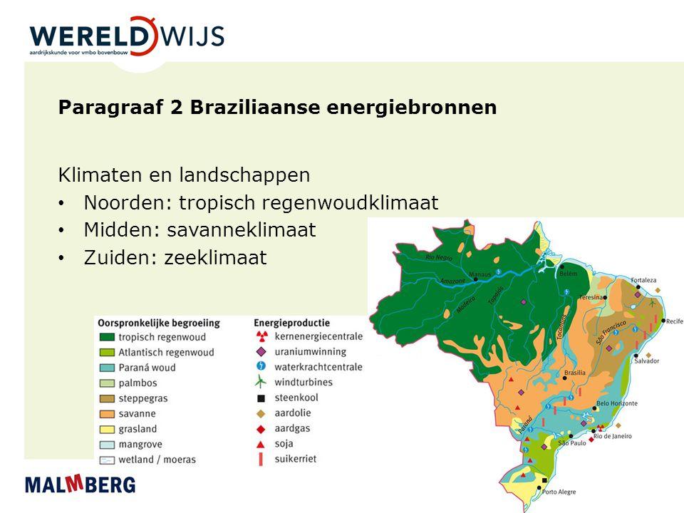 Paragraaf 2 Braziliaanse energiebronnen