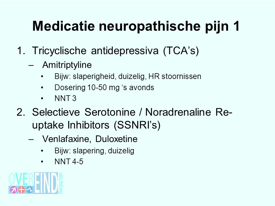 Medicatie neuropathische pijn 1