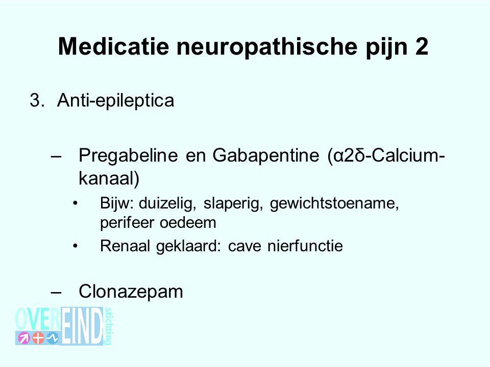 Medicatie neuropathische pijn 2