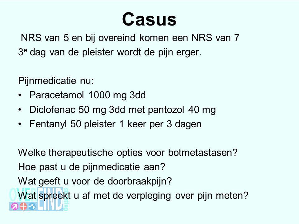 Casus NRS van 5 en bij overeind komen een NRS van 7