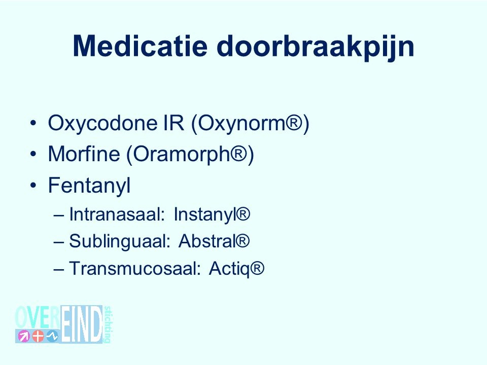 Medicatie doorbraakpijn