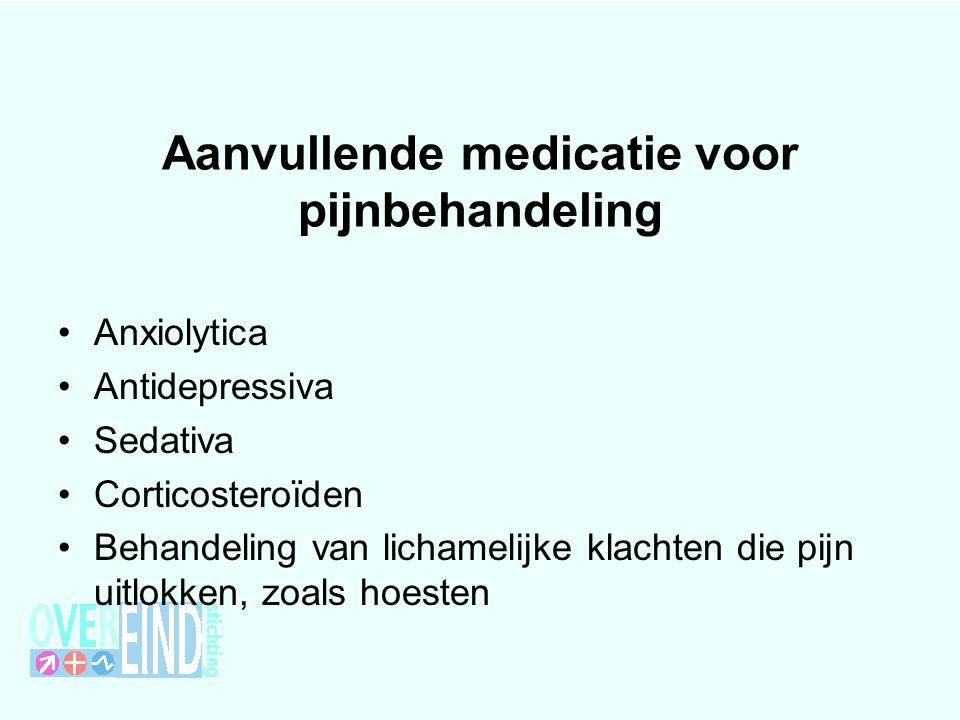 Aanvullende medicatie voor pijnbehandeling