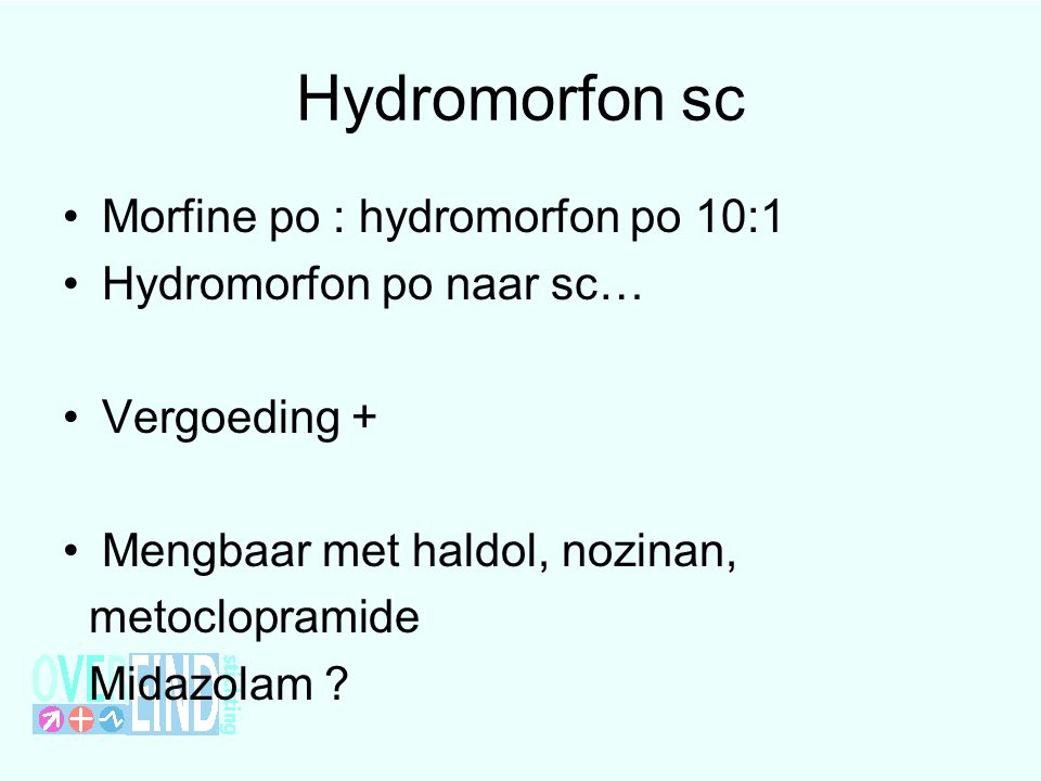 Hydromorfon sc Morfine po : hydromorfon po 10:1