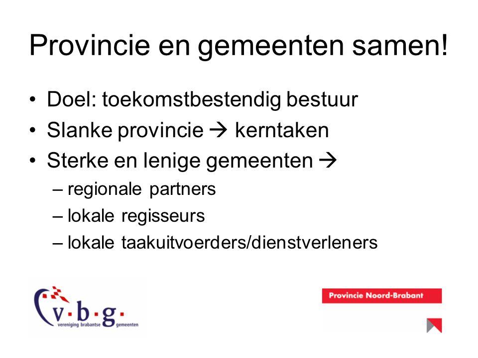Provincie en gemeenten samen!
