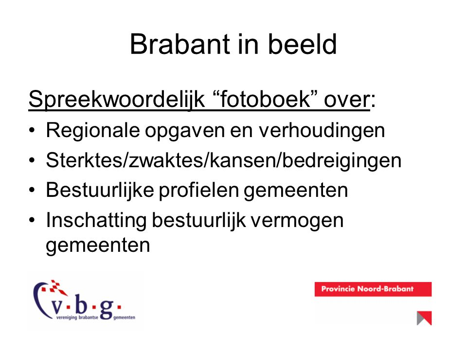 Brabant in beeld Spreekwoordelijk fotoboek over: