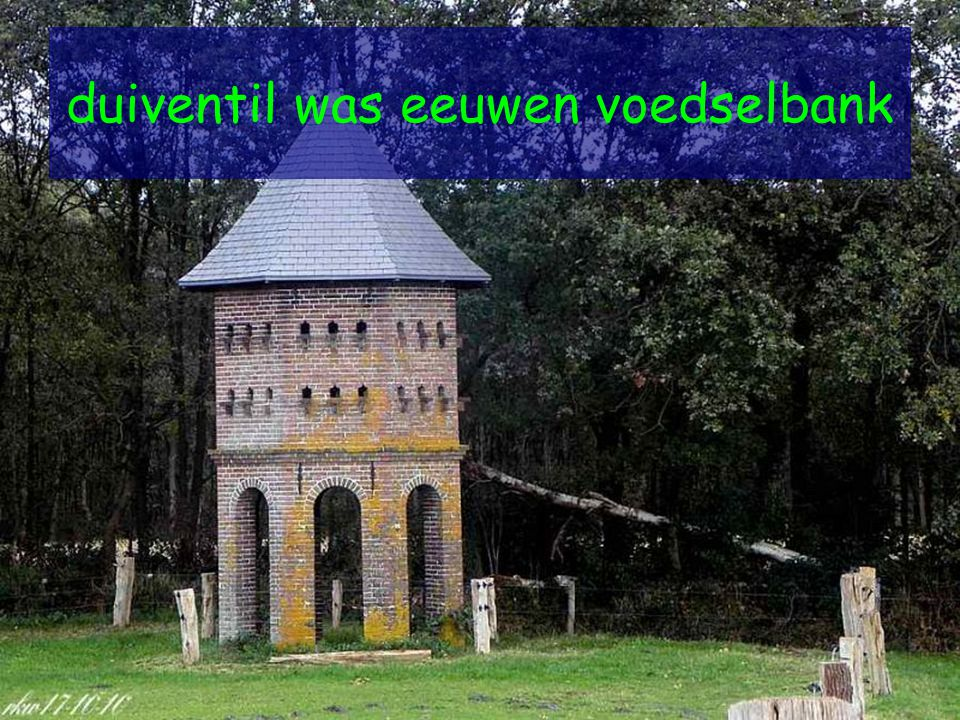 duiventil was eeuwen voedselbank