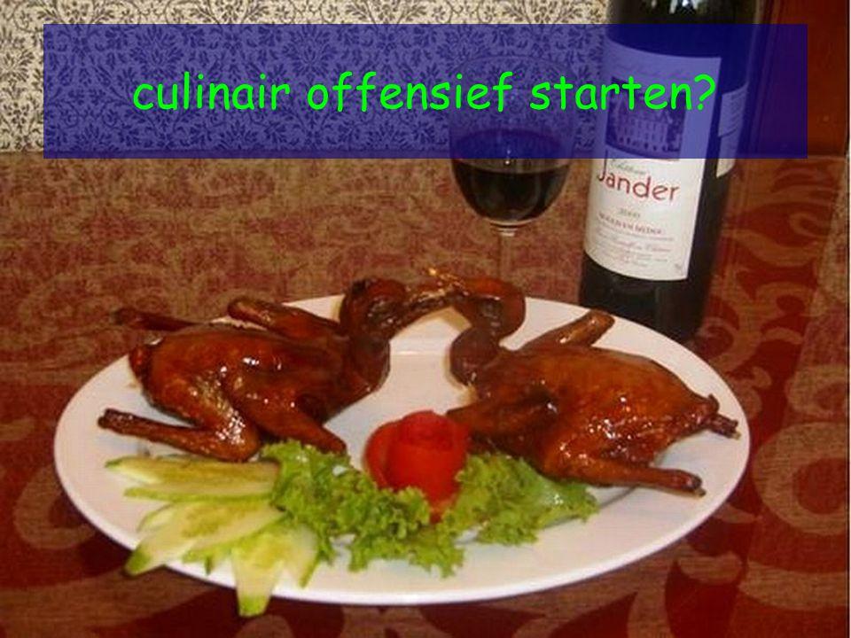 culinair offensief starten
