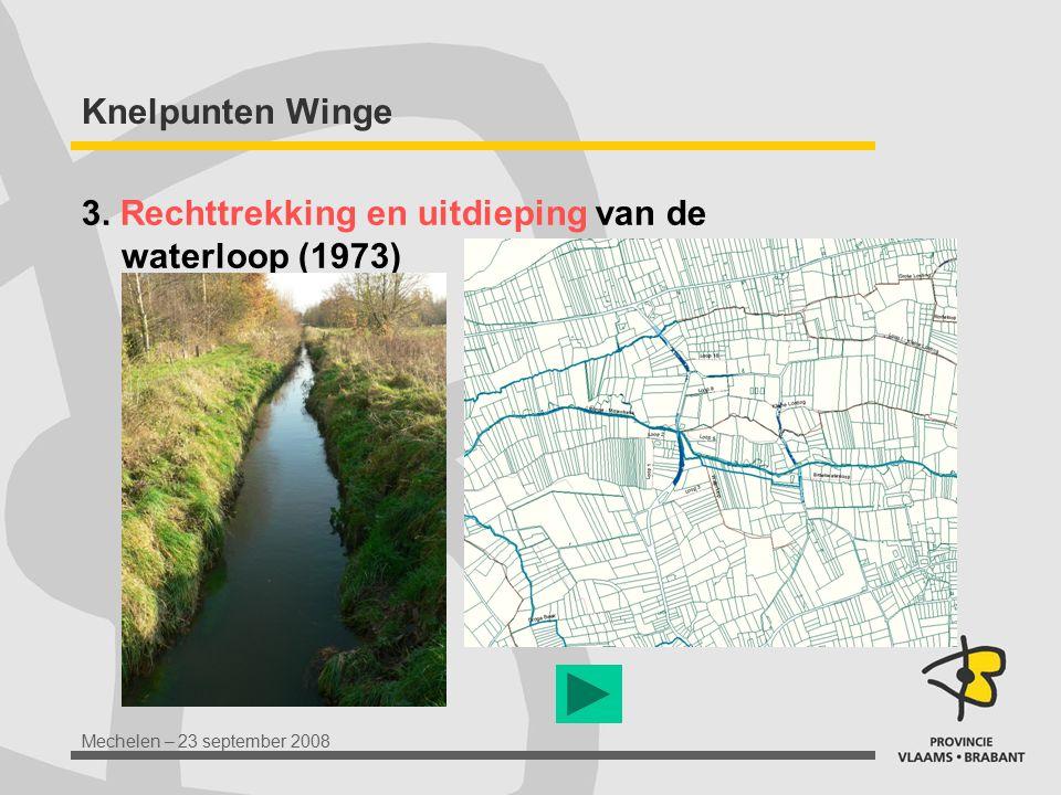 Knelpunten Winge 3. Rechttrekking en uitdieping van de waterloop (1973)
