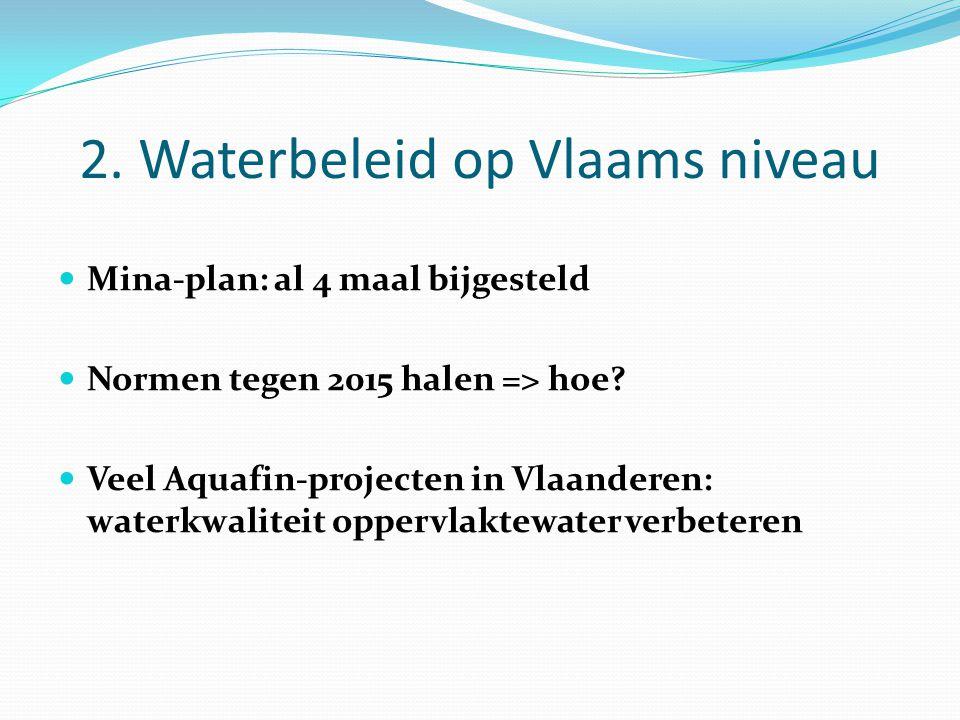 2. Waterbeleid op Vlaams niveau