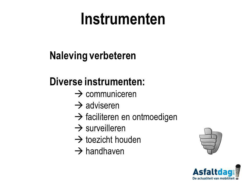 Instrumenten Naleving verbeteren Diverse instrumenten:  communiceren